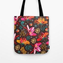 Tropical flower pattern Tote Bag