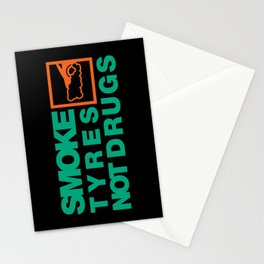 SMOKE TYRES NOT DRUGS v7 HQvector Stationery Cards