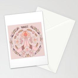 Namaste Hand/ Mandala/ Meditation Art in Nude Tone Stationery Cards