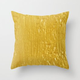Luxury Solid Gold Paint Texture Throw Pillow