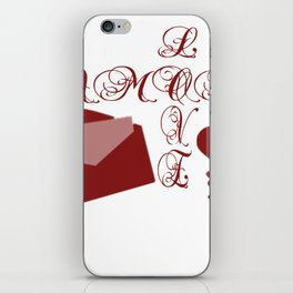 Love Amor Valentine Design iPhone Skin