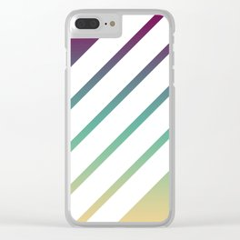 Retro Stripes on Color Gradient Clear iPhone Case