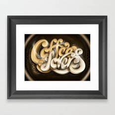Coffee Lovers Framed Art Print