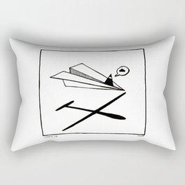 Ninja flies a Paper Plane Rectangular Pillow