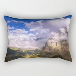 Good Evening in the Alps Rectangular Pillow