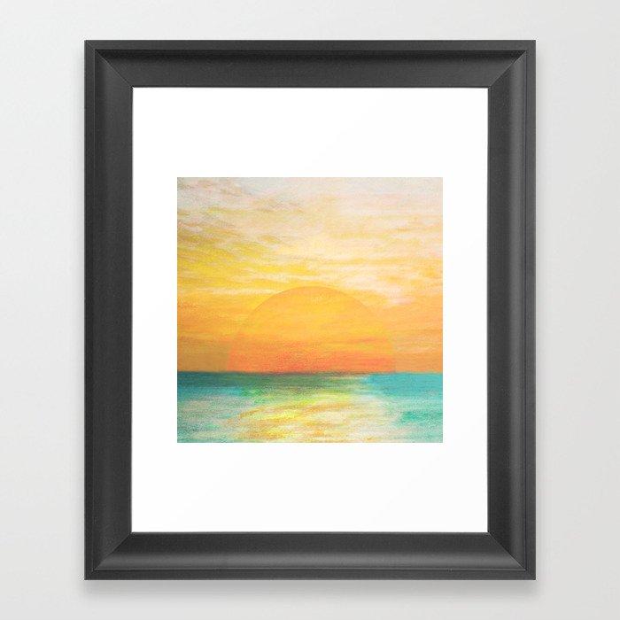 Summer Sunset Gerahmter Kunstdruck