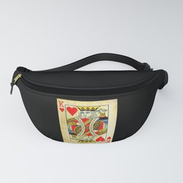 King Of Hearts Card Deck Old Fanny Pack