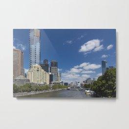 River Yarra at Melbourne, Australia Metal Print