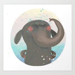 An elephant. Art Print