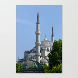 Blue Mosque, view from Sultanahmet, Istanbul, Turkey Canvas Print