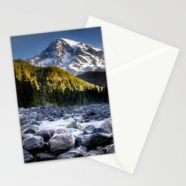 Mt Rainier Morning on the Nisqually #2 Stationery Cards