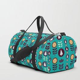 Christmas pattern in blue Duffle Bag
