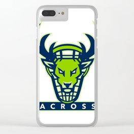 Buck Lacrosse Mascot Clear iPhone Case