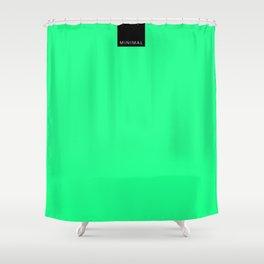 Minimal Green Light Shower Curtain
