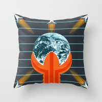 dune Throw Pillows featuring Dune by milanova