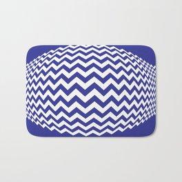BLUE LINES Abstract Art Bath Mat