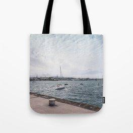 Boats docked Tote Bag