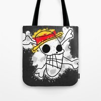 luffy Tote Bags featuring Luffy Laboon by rKrovs