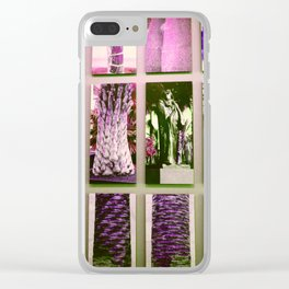 An abundance of Palm Trees Clear iPhone Case