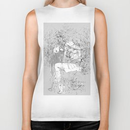 Lady in Peonies Biker Tank