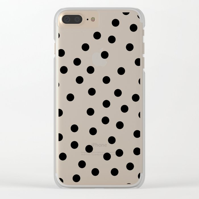 Simply Dots in Midnight Black Clear iPhone Case