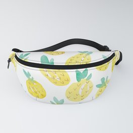 Watercolor Pineapples Fanny Pack
