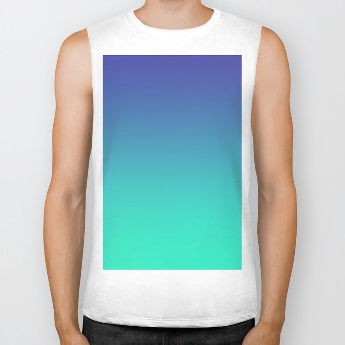 LUSH COVE - Minimal Plain Soft Mood Color Blend Prints Biker Tank