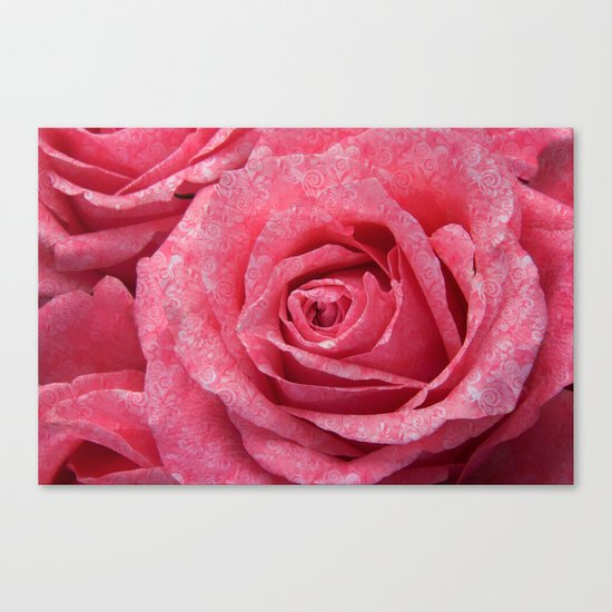 Pink love roses Canvas Print