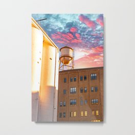 Water Tower In Minneapolis-Architecture Sunset Metal Print