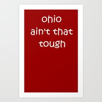 ohio Art Prints featuring Ohio by AD Scribble - Just Shirts - nothing more
