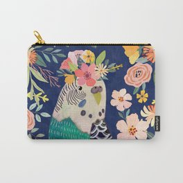 Parakeet with Floral Crown Carry-All Pouch