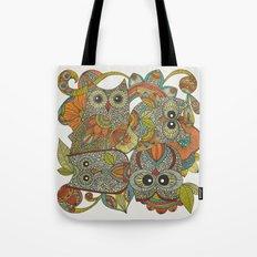 4 Owls Tote Bag