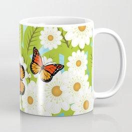 Daisies and butterflies Coffee Mug