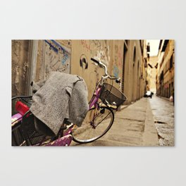 Lavender Bicycle - Firenze Canvas Print