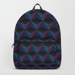 Watch Your Step Geometric 3D  Cube Pattern Backpack