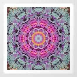 Kale mandala Art Print