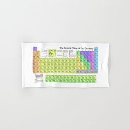Periodic Table of Elements Chart Hand & Bath Towel