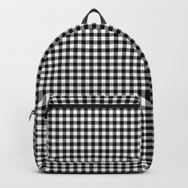 Mini Milkweed White and Black Rustic Cowboy Cabin Buffalo Check Backpack