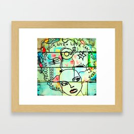 Love can stop your fear  Framed Art Print