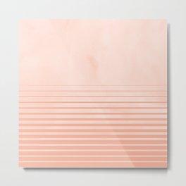 Sweet Life Peach Coral Gradient Metal Print