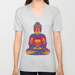 Crystal Buddha Unisex V-Neck