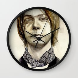 Tommy Boy within flowing pattern Wall Clock