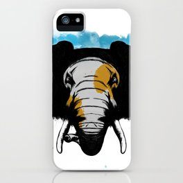 Angry Elephant iPhone Case
