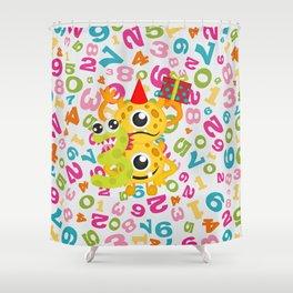 Birthday Monsters 3rd Birthday Shower Curtain