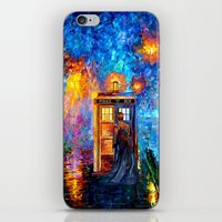 fandom iPhone & iPod Skins featuring The 10th Doctor who Starry the night Art painting iPhone 4 4s 5 5c 6, pillow case, mugs and tshirt by Three Second