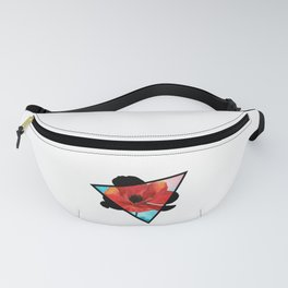 Poppy Dreams Triangle Fanny Pack