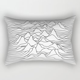 Black and white graphic - sound wave illustration Rectangular Pillow