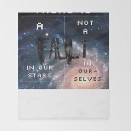 There is a fault in our stars Throw Blanket