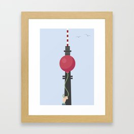 The Real Berlin TV Tower Framed Art Print