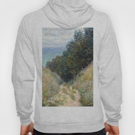 1882-Claude Monet-Road at La Cavée, Pourville-60 x 81 Hoody